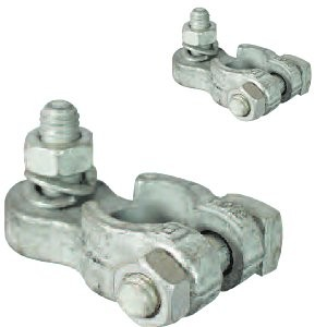 Pair of battery terminal clamps - 8mm stud