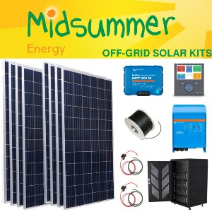 this 2kw complete off-grid kit is perfect for offices, sheds or beach huts   kit includes: 2kw solar,